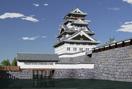 3D digital image of Fukui Castle