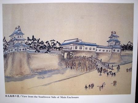 An old painting of Fukui castle