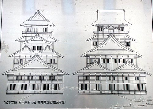 A diagram of Fukui Castle