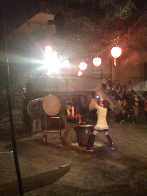 Crazy Girl Playing Taiko